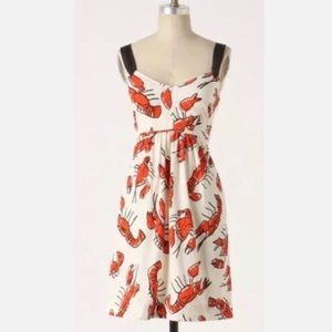 Anthro Edme & Esyllte Salty Seas Lobster Dress